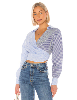 The Doreen Top In Blue & White by L'academie