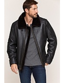 Brody Shearling Sheepskin Bomber Jacket by Overland