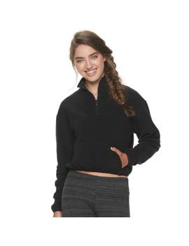 Juniors' So® Microfleece 1/4 Zip Jacket by Juniors' So