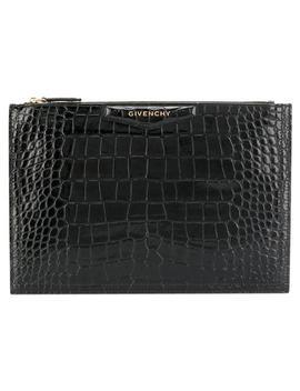 Antigona Black Leather Clutch by Givenchy
