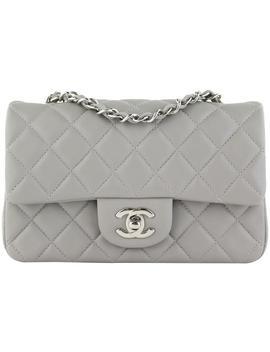 Rectangular Mini Grey Lambskin Cross Body Bag by Chanel