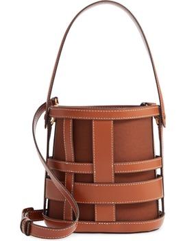 Brody Plaid Leather Bag by Staud