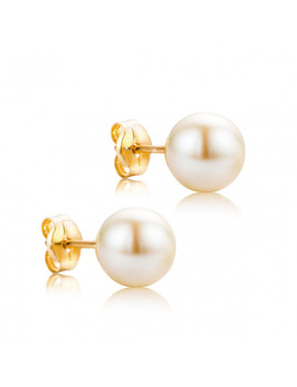 Freshwater Pearls Earring 18 Kt Yellow Gold by Diamada