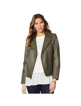 "<Span Class=""Callout Exclusive"">Exclusive!</Span>                  G By Giuliana Genuine Leather Moto Jacket by G By Giuliana"