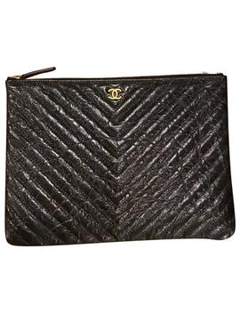 Clutch New Iridescent Ghw Black Calfskin Leather Tote by Chanel
