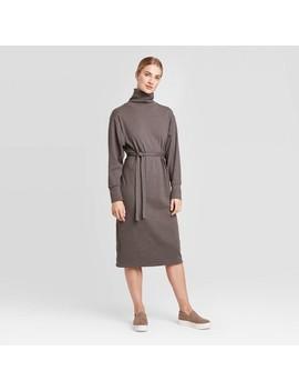 Women's Long Sleeve Mock Turtleneck T Shirt Midi Dress   Prologue™ by Prologue