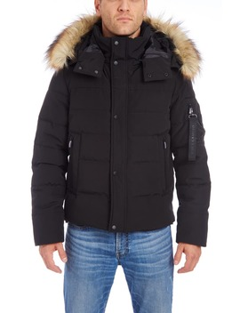 Faux Fur Trim Puffer Jacket by Vince Camuto