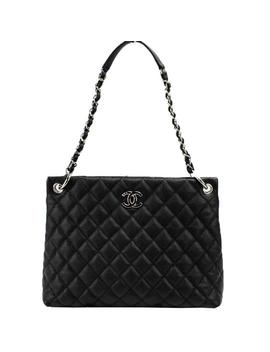 Shopper Black Caviar Shoulder Bag by Chanel