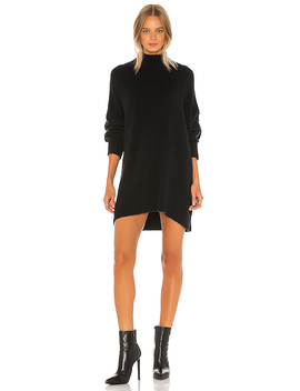 Afterglow Mock Neck Sweater Dress In Black by Free People