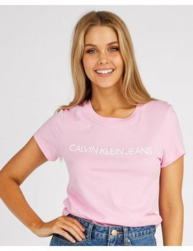 Institutional Logo T Shirt by Calvin Klein Jeans