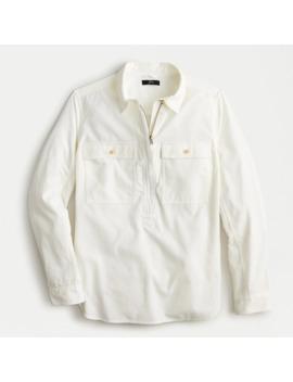 Half Zip Corduroy Shirt Jacket by J.Crew