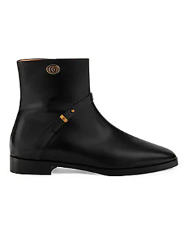 Double G Leather Boots by Gucci