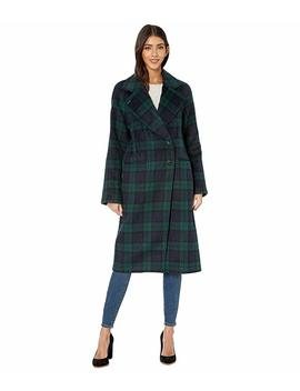 Double Face Plaid Wool Raglan Coat by Avec Les Filles