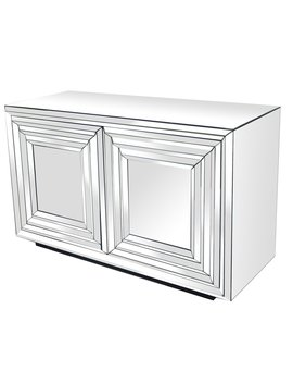 Brogel 2 Door Mirrored Accent Cabinet by House Of Hampton