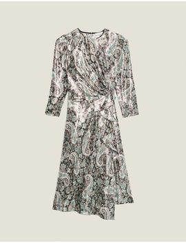 Robe Longue Drapée En Jacquard Lurex by Sandro Paris