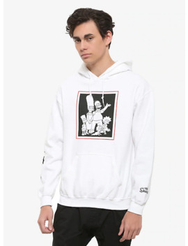 The Simpsons Black &Amp; White Family Portrait Hoodie by Hot Topic
