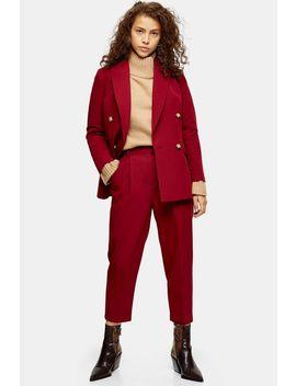 Petite Berry Suit Blazer by Topshop