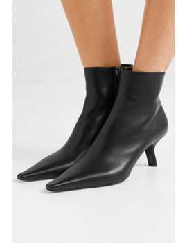 65 Leather Ankle Boots by Prada
