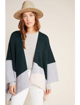 Windsor Colorblocked Poncho by Elk