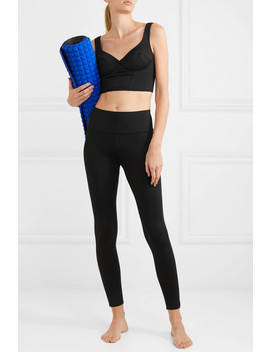 Jade Cropped Stretch Top by Ernest Leoty