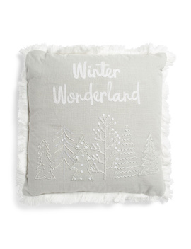 Made In India 20x20 Winter Wonderland Pillow by Tj Maxx