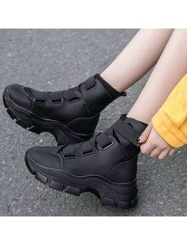 Yuki Yoru   Plain Chunky Sneakers by Yuki Yoru