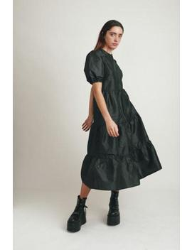 Taffeta Black Oversized Backless Dress by The Ragged Priest