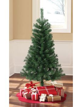 Holiday Time 4.5' Un Lit Regular Full Pine Christmas Tree   Green by Walmart