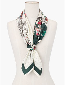 New England Silk Square Scarf by Talbots