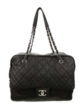 Quilted Caviar Camera Bag by Chanel