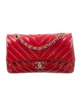 Chevron Classic Medium Single Flap Bag by Chanel