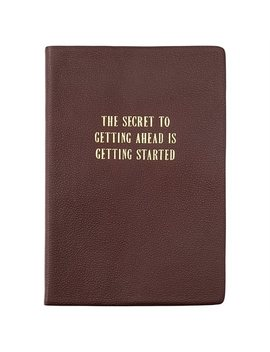 Leather Journal The Secret Dark Brown by Indigo Paper