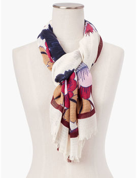 Autumnal Floral Scarf by Talbots