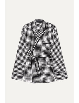 Belted Houndstooth Woven Jacket by Haider Ackermann