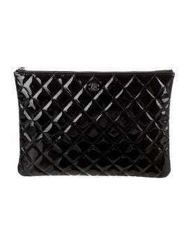 Patent Leather Cc O Case by Chanel