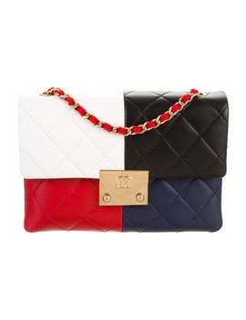 Colorblock Quilted Flap Bag by Chanel