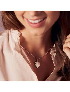 Personalised Spinning Globe Necklace by Etsy