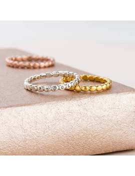 Personalised Bead Ring by Etsy