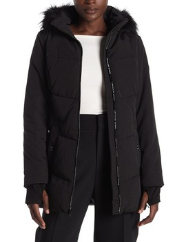 Missy Faux Fur Trim Jacket by Michael Michael Kors