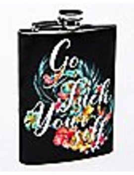 Floral Go Fuck Yourself Flask   8 Oz. by Spencers