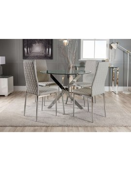 Wasdale Dining Set With 4 Chairs by Metro Lane