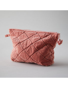 Quilted Velvet Pouch by Terrain