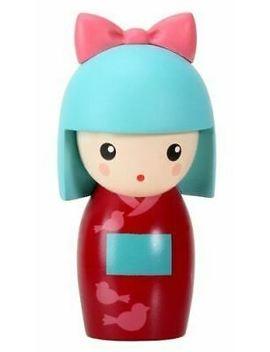 Kokeshi Kotori Little Japanese Girl In Dark Red Kimono Figurine by Ebay Seller