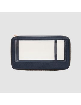 Ink Navy Clear Travel Case         Ink Navy Clear Travel Case by Tde.