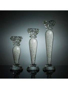 Radiant Gems Inside 3 Piece Crystal Candlestick Set by Astoria Grand