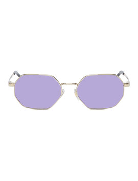 Gold & Purple Pop Chic Sunglasses by Versace