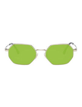 Gold & Green Pop Chic Sunglasses by Versace