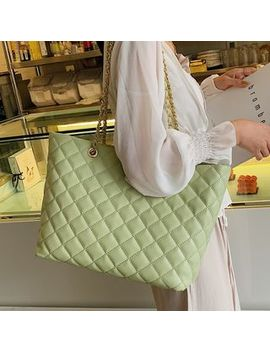 Fionne   Faux Leather Quilted Tote Bag by Fionne