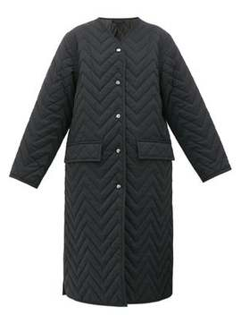 Olivette Chevron Quilted Coat by Acne Studios