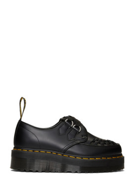Black Sidney Chunky Wedge Derbys by Dr. Martens